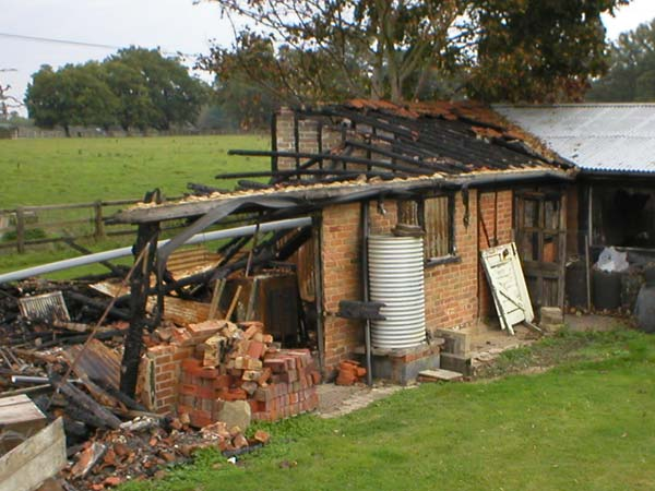 fire damage insurance clain